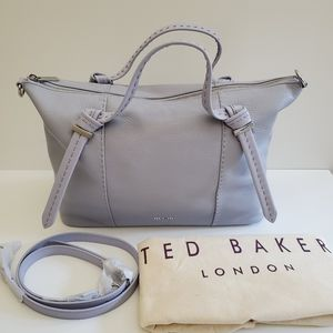 Ted Baker Knotted Handle Large Leather Tote Bag